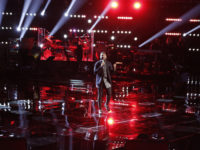 "THE VOICE -- ""Live Playoffs"" Episode 913B -- Pictured: Darius Scott -- (Photo by: Tyler Golden/NBC)"